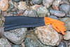 Shoulder length rubber glove washed up at Petit Port on Guernsey's south coast on 28th February 2020