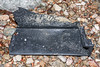 Large piece of black plastic fish box washed up at Petit Port on Guernsey's south coast on 4th March 2020