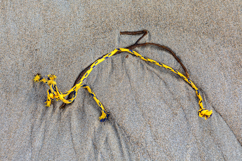 Polypropylene twine washed up at Petit Port on Guernsey's south coast on 28th November 2019