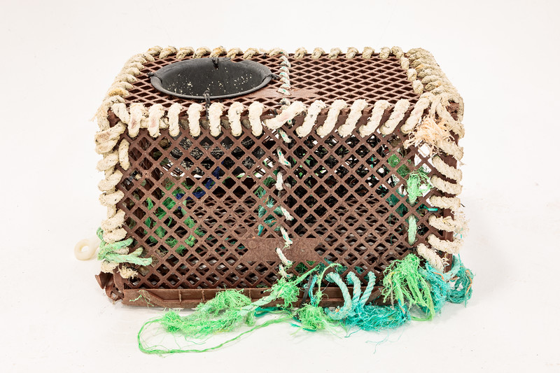 Fishing trap washed up at Petit Port on Guernsey's south coast