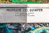 CCI Quimper fish box washed up at Petit Port on Guernsey's south coast on 19th January 2014