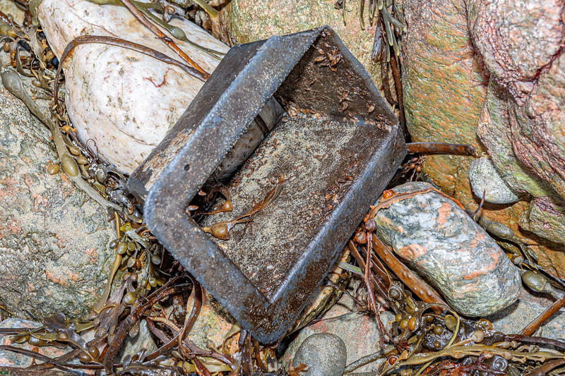 Plastic trap entrance from North America washed up at Petit Port on Guernsey's south coast on 12th January 2020