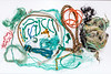 Fishing rope and polypropylene twine collected from Petit Port Bay on Guernsey's south coast on 22nd October 2017