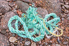 Length of twisted rope washed up at Petit Port on Guernsey's south coast on 15th February 2020