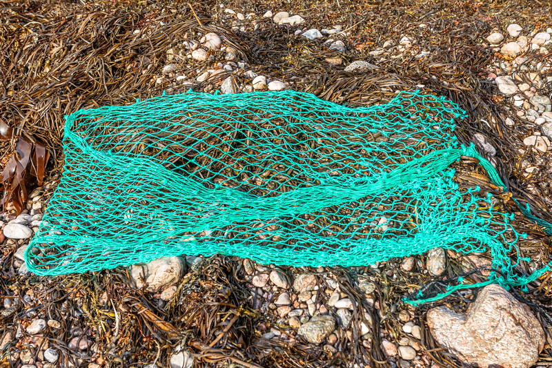Portion of fishing net washed up at Petit Port on Guernsey's south coast on 18th October 2019