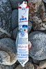 Lala UHT whole milk carton collected at Baie des Pecqueries on Guernsey's west coast on 23rd January 2021
