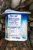 full yogurt container of Spanish origin washed up at Petit Port on Guernsey's south coast on the 28th January 2021