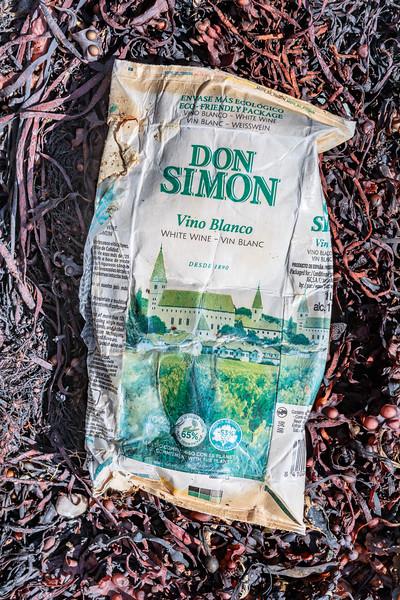 Don Simon white wine carton from Petit Port on Guernsey's south coast