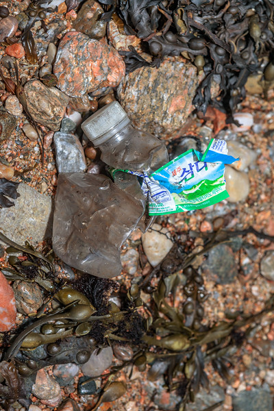Jeju Island, South Korea plastic bottled water found at Petit Port on Guernsey's south coast on 10th December 2019
