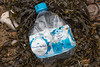 Plastic water bottle washed up at Petit Port on Guernsey's south coast on the 28th January 2021
