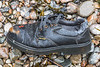 Chinese workman's safety shoe washed up at Petit Port on Guernsey's south coast on the 30th January 2021