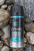 Lynx deodorant spray can in the western boulder field at Petit Port on Guernsey's south coast on the 28th January 2021