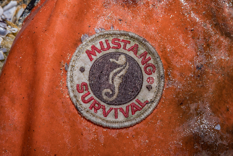 Mustang Survival life vest washed up at Baie des Pêqueries on Guernsey's north west coast