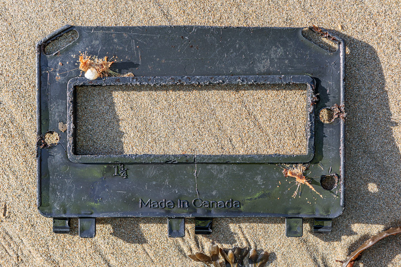 Lobster trap escape panel washed up at Petit Port on Guernsey's south coast on 12th January 2020