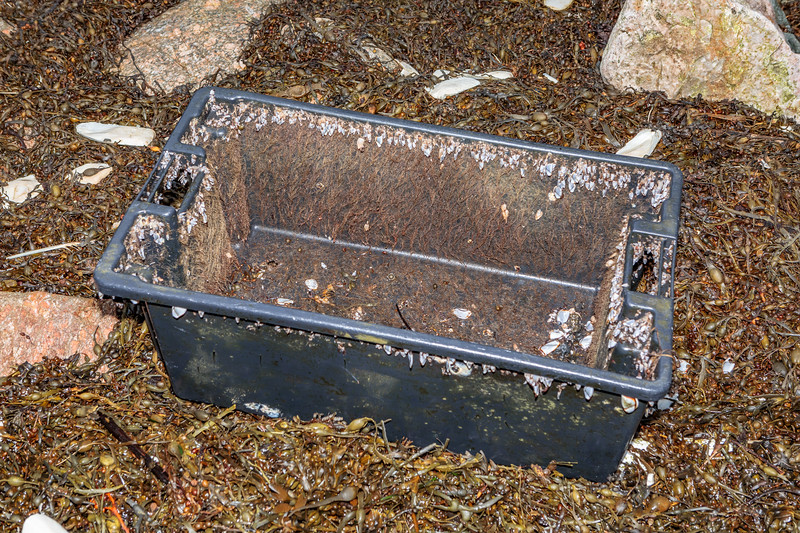 Ship 'n Shore tote box washed up at Petit Port on Guernsey's south coast on 11th January 2020