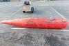 Canadian Coastguard Go Deep international navigation buoy and channel marker at St Peter Port harbour