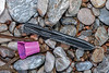 Two plastic pieces including a tool used in mussel farming washed up at Petit Port on Guernsey's south coast on 12th December 2019