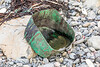 A dirty cut plastic container washed up at Pleinmont on Guernsey's southwest coast on 9th October 2020