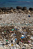 This image shows a small section of the strand-line on the sea shore by the city of Avola on Sicily's south-east coast.  No litter was moved for the photography.  This image shows the natural volume of plastic litter in the strand-line. <br /> File no. 020410 1392<br /> ©RLLord<br /> fishinfo@guernsey.net