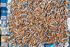 Cigarette litter collected from lower Pedvin Street, St Peter Port, Guernsey on 11th August 2020