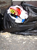 seagull pecked rubbish bag Hautville 150605 605