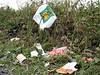A wind blown plastic bag and other litter accummulates by the side of the road near Mont Cuet.<br /> Photographed on the 5 June 2007<br /> File No. 050607 249<br /> ©RLLord<br /> fishinfo@guernsey.net