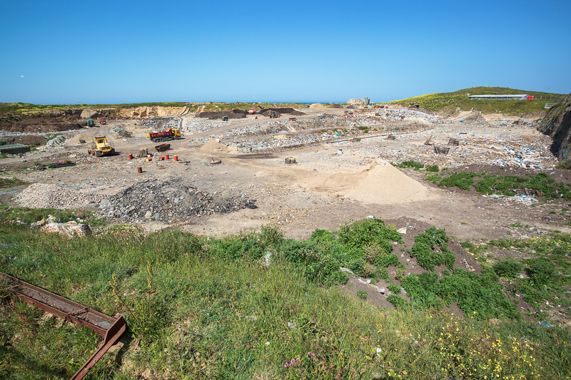 Mont Cuet landfill on Guernsey's north coast on 29th May 2009