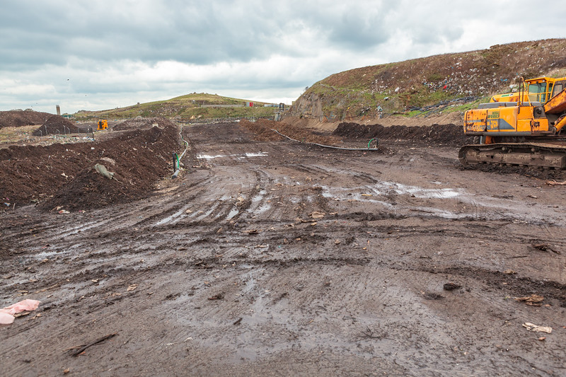 Mont Cuet landfill site on Guernsey's north coast on 28th January 2012