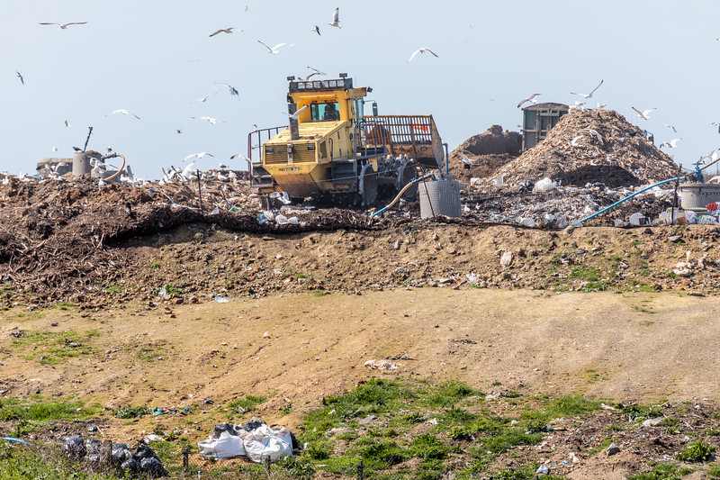 Mont Cuet landfill on Guernsey's north coast on 16th April 2018