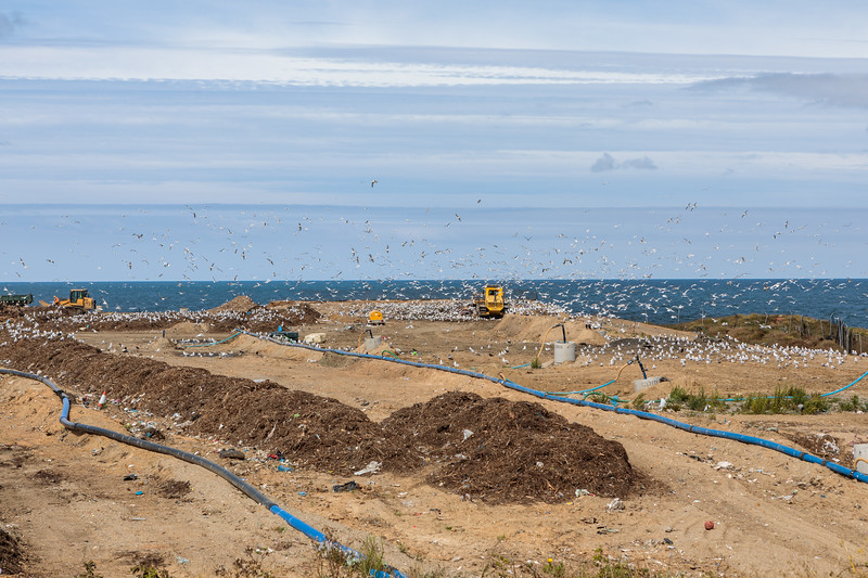 Mont Cuet Landfill on Guernsey's north coast on 11th August 2017