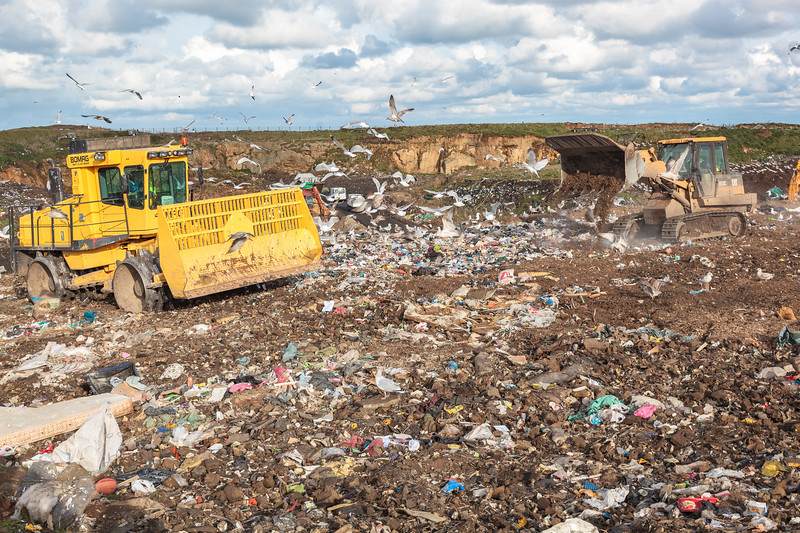 Mont Cuet landfill on Guernsey's north coast on 24th November 2010
