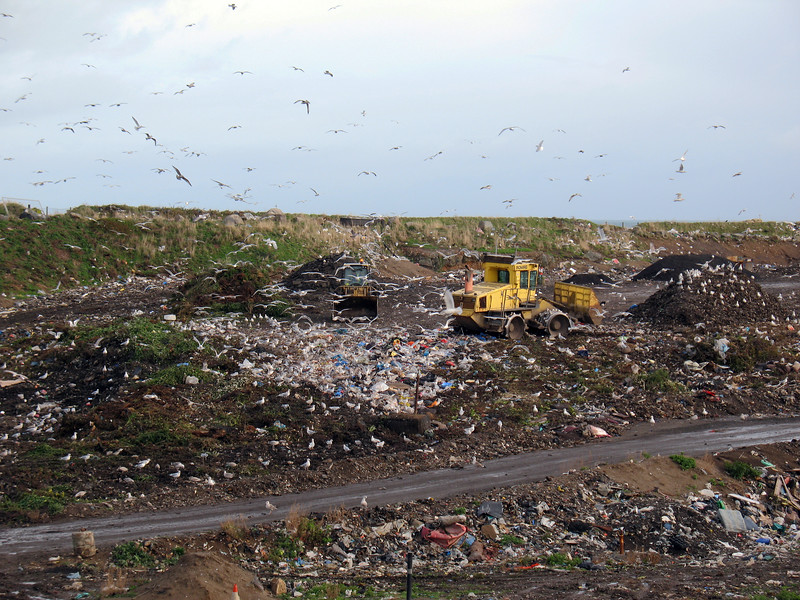 Mont Cuet landfill site in Guernsey on 8th November 2008