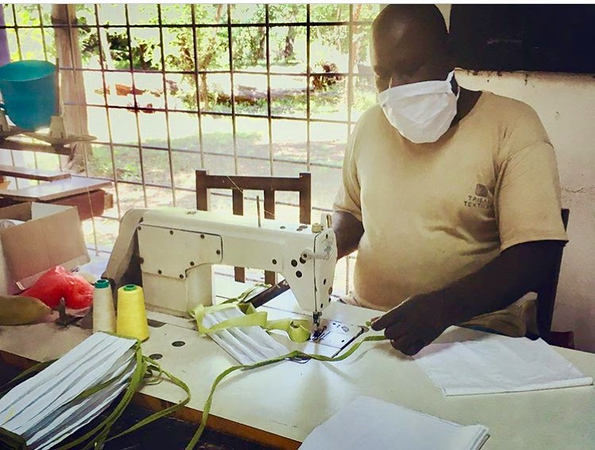 Tribal Textiles, located near South Luangwa National Park in Zambia, has begun making masks to help prevent the spread of COVID-19.