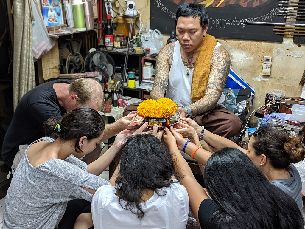 Where the Sidewalk Ends group with Bangkok, Thailand shaman