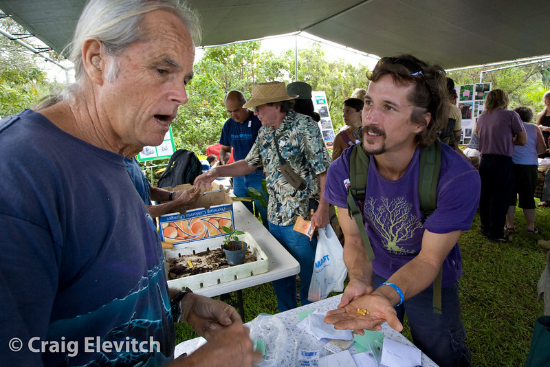 Expert gardeners share both seeds and knowledge.