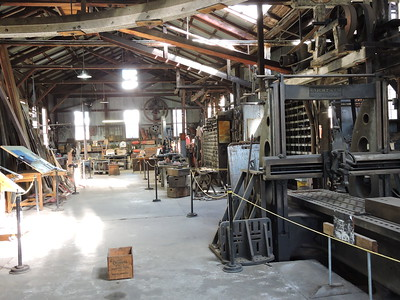 Sutter Creek Then and Now Photo 16 - View inside Kinght's Foundry