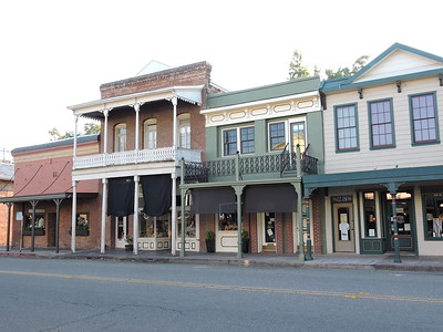 Sutter Creek Then and Now Photo 2  - View of Historical Buildings