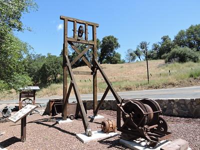Sutter Creek Then and Now Photo 7 - Miner's Bend head frame