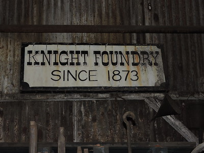 Sutter Creek Then and Now Photo 17 - Sign inside Knight's Foundry