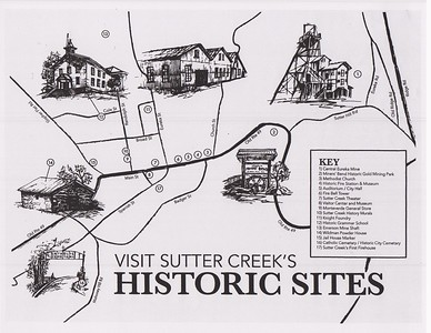 Sutter Creek Then and Now Photo 1 - Map of Sites