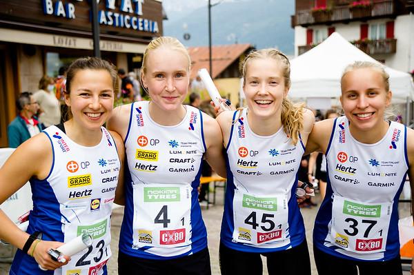 Suomen joukkueiden aloittajat sprinttiviestissä