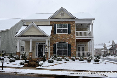 Our home during the snowfall of 2009 in Suwanee.