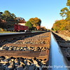 Looking down the railroad tracks in Old Town Suwanee on a fall afternoon in 2008.