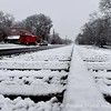 Looking down the railroad tracks in Old Town Suwanee in the Winter of 2009.