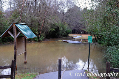 Suwanee Greenway flooded by the rains