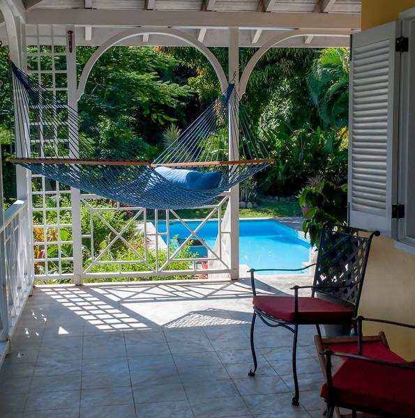 Pool  right off the veranda