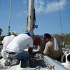 scraping the goo out from the mast partners