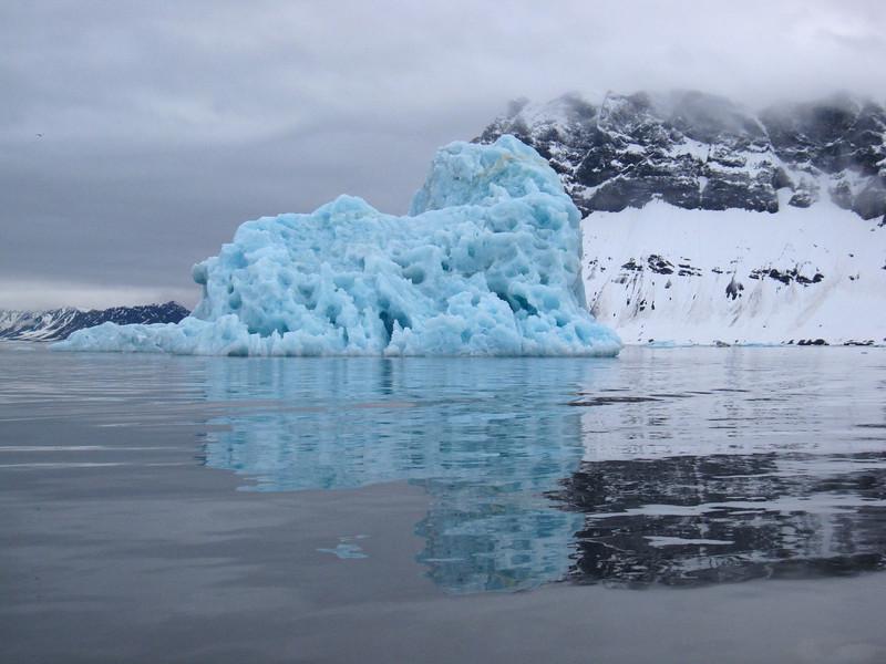 Blue iceberg in Hornsund