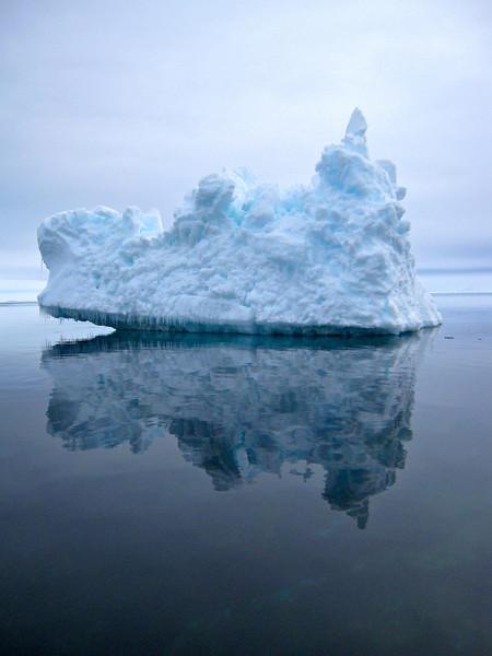 Grounded iceberg near the Seven Islands