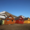 Longyearbyen at midnight